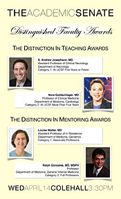 2009-2010 Distinguished Faculty Awards Poster