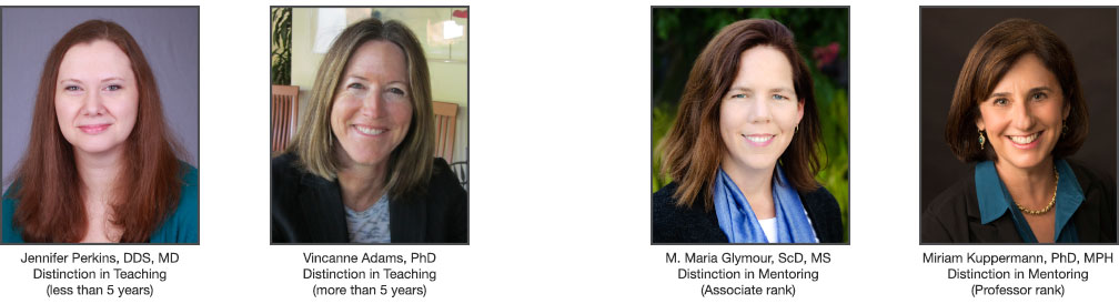 Distinguished Faculty Awards Recipients