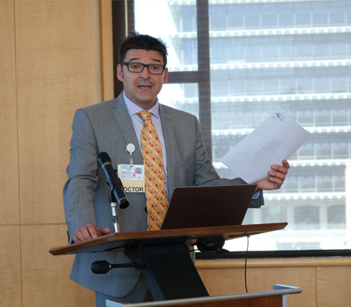 Jeff Critchfield, MD, Chair, CAP opened the event