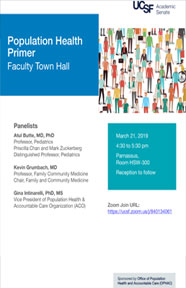 Population Health Primer Faculty Town Hall Meeting