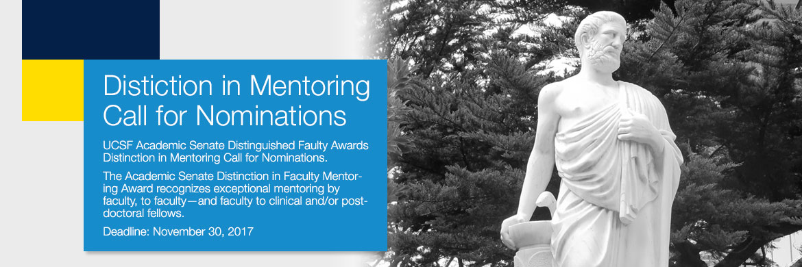 Academic Senate Distinction in Mentoring Call for Nominations