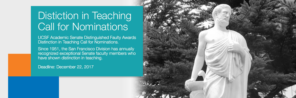 2017-2018 Distinction in Teaching Call for Nominations