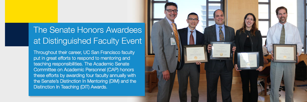The Senate Honors Awardees at Distinguished Faculty Event