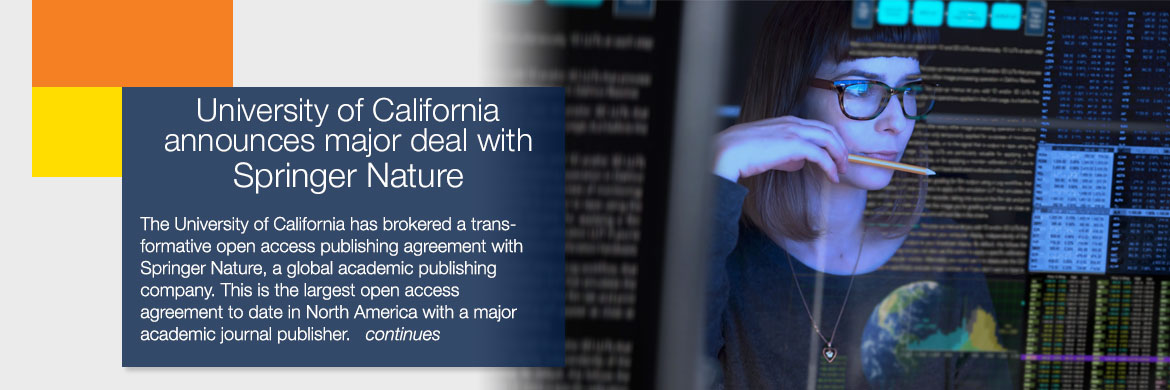 University of California announces a major deal with springer nature 6/16/20
